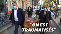 Contre l'isolement en Ehpad, un cercueil déposé devant le ministère de la