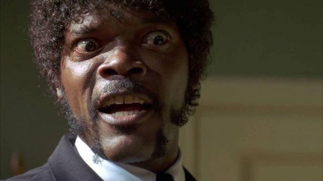 Samuel L. Jackson durante una escena de 'Pulp Fiction', de Quentin