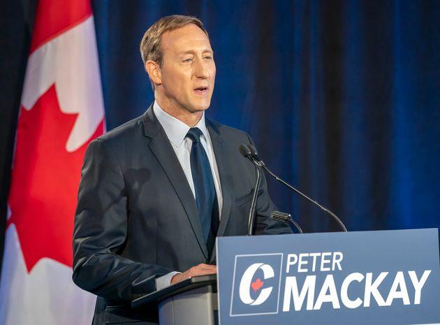 Peter MacKay speaks during a Conservative leadership debate in Toronto on June 17. MacKay admits his...