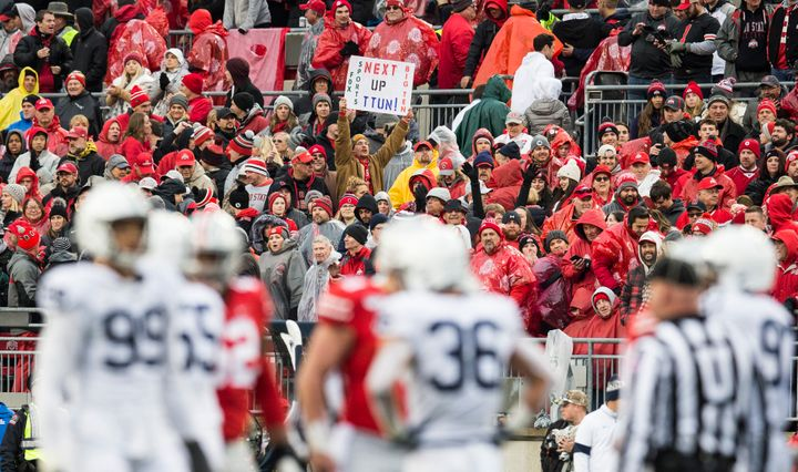 Ohio State and Penn State play in a 2019 Big Ten game.