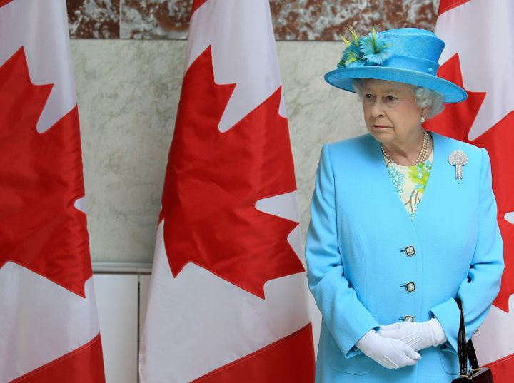 Queen Elizabeth II at the Canadian Museum of Nature in Ottawa on June 30, 2010.