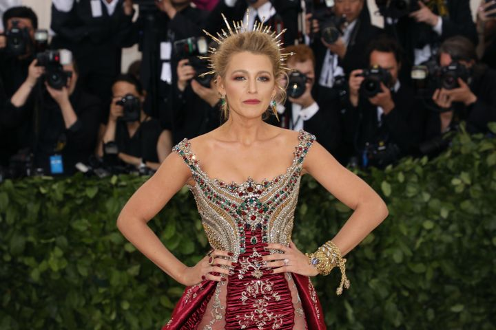 "Blake Lively wore <a href=""https://www.eonline.com/news/933414/blake-lively-s-chrome-met-gala-nails-took-over-a-month-to-create"" target=""_blank"" rel=""noopener noreferrer"">a set of Kiss press-on nails that took more than a month to customize</a> at the 2018 Met Gala in New York."