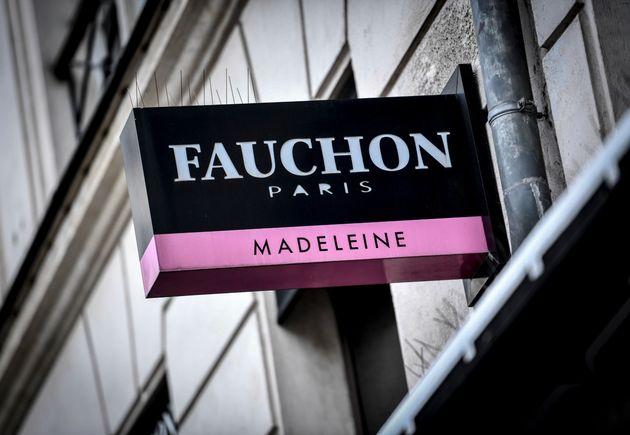 L'enseigne d'une boutique Fauchon à la Madeleine, à Paris, en septembre 2020 (STEPHANE...