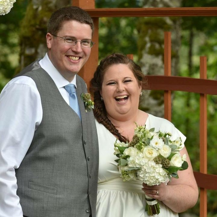 The author and her husband, Ian, at their wedding in 2015.