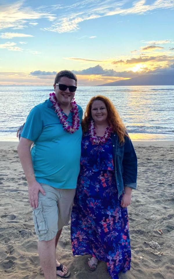 The author and Ian in Maui in 2019.