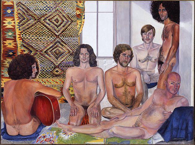 Sylvia Sleigh, The Turkish Bath, 1973, Óleo sobre lienzo,Smart Museum of Art, The University...