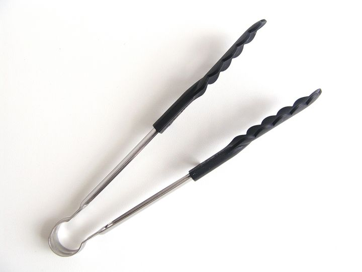 If you do go the tongs route, consider rubberized options, as they grip to objects easier.
