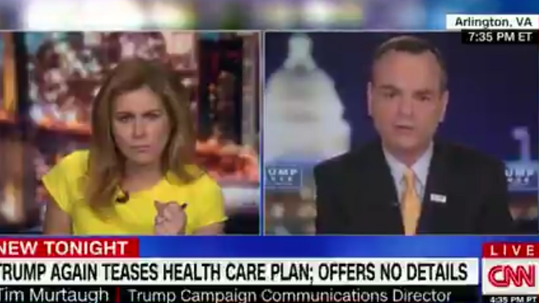 Erin Burnett Confronts Trump Campaign Spox To His Face: 'You Don't Have A Plan'
