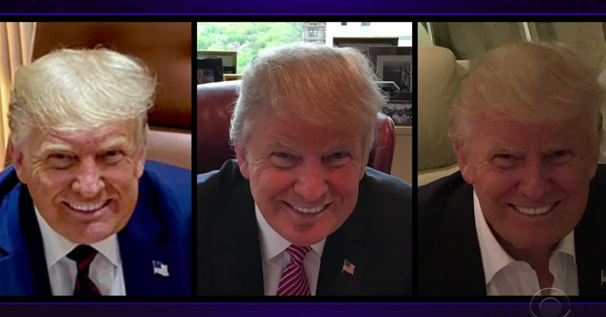 James Corden Notices A Weird Pattern With Trump's Photos