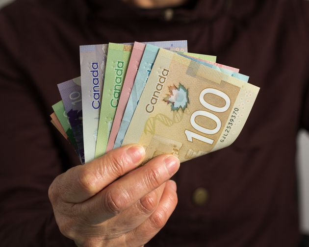 Canadian banknotes are seen here in this image. Statistics Canada says the consumer price index...