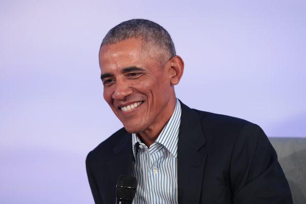 L'ancien président américain Barack Obama lors d'un sommet de la Fondation Obama à...