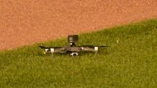 Cubs-Indians Game Delayed After Drone Lands In Wrigley Field's Outfield  ...