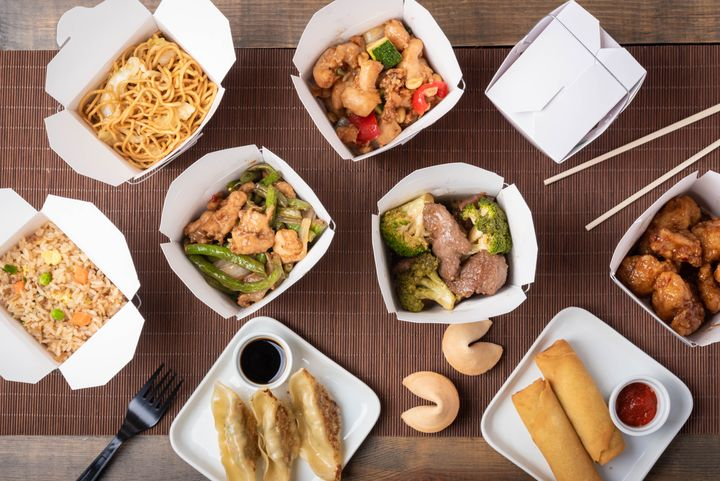 Ordering family-style eliminates the pressure to eat an entire container of one takeout dish by yourself.