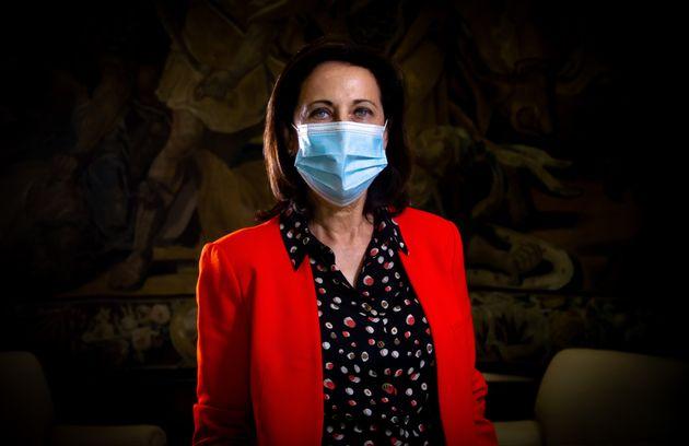 Margarita Robles, en el Ministerio de Defensa tras la