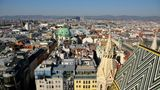 aerial viev of Vienna in sunny day