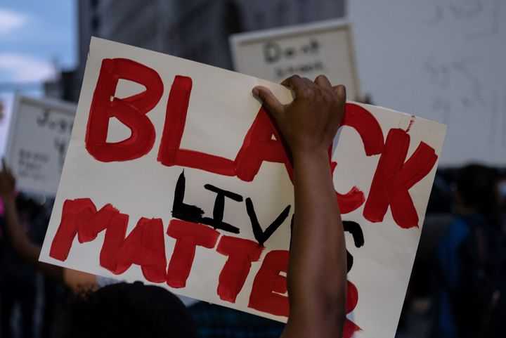 "The ""Black lives matter"" cry rises fully at protests now across the nation, including this one in Detroit on May 29, just days after the police killing of George Floyd in Minneapolis."