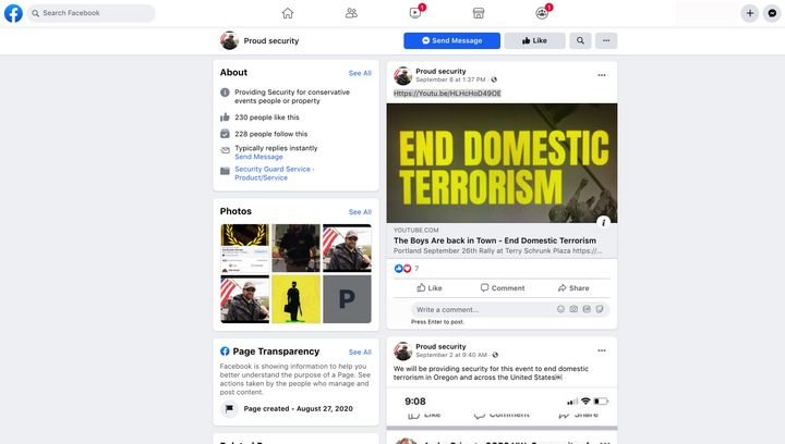 A Facebook page promoting a neo-fascist Proud Boys rally scheduled for Sept. 26 in Portland included a propaganda video for t