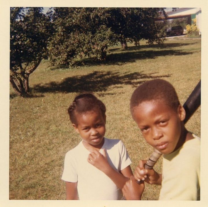 Michelle and Craig as kids.