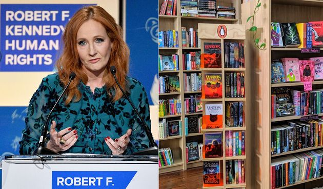 Australian bookshop Rabble Books and Games (right) will no longer stock the novels of JK Rowling