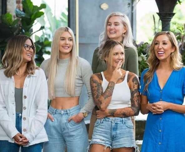 'The Bachelor Australia' contestant Irena Srbinovska (L) talks about what the contestants eat in the mansion