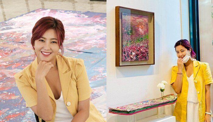 지난 11일, 한 미술품 경매에서 낙찰가 1위를 기록한 아티스트 권지안(솔비 본명).