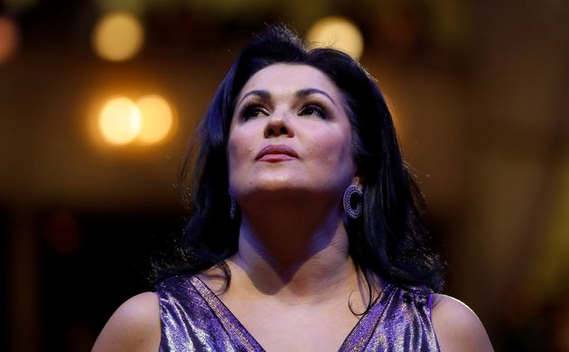Opera singer Anna Netrebko performs during a dress rehearsal for the traditional Opera Ball in Vienna,...