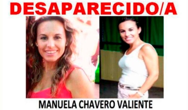 Cartel de la búsqueda de Manuela
