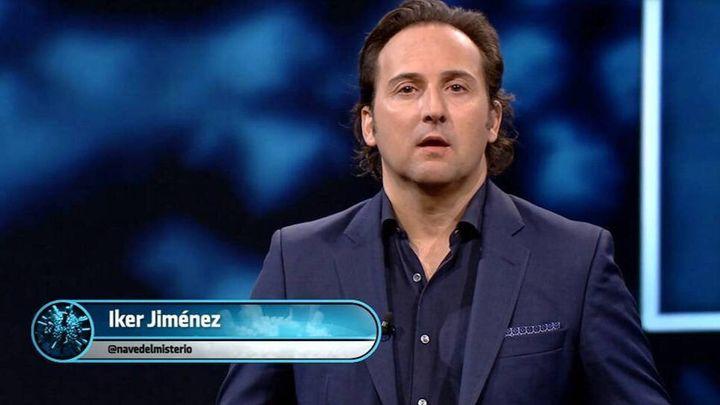 Iker Jiménez, en 'Informe Covid' de 'Cuarto Milenio' en Telecinco.