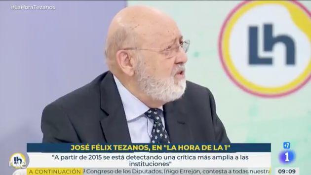 José Félix Tezanos, en 'La Hora de la