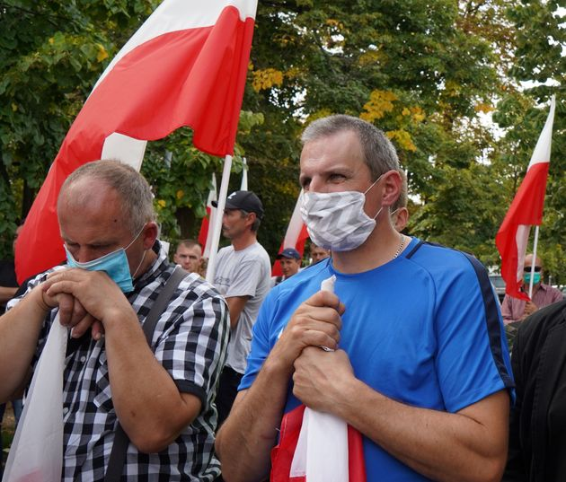 Des agriculteurs polonais ont manifesté mercredi 16 septembre à Varsovie contre le projet...