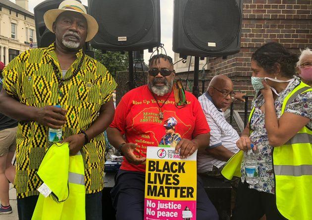Hesketh Benoit at a Black Lives Matter protest