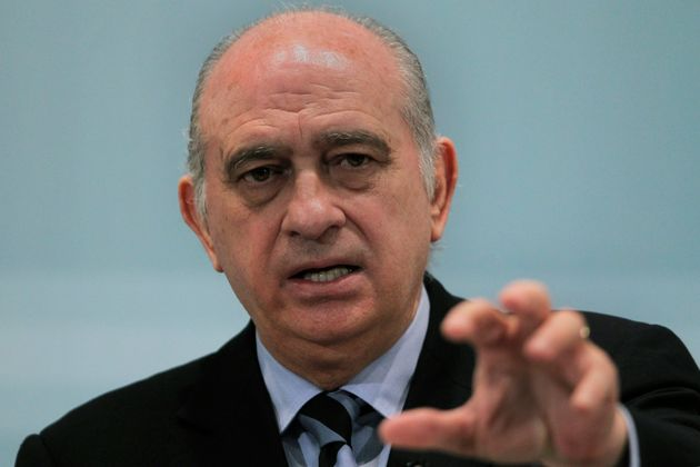 Jorge Fernández Díaz, en 2013, siendo ministro del Interior con el