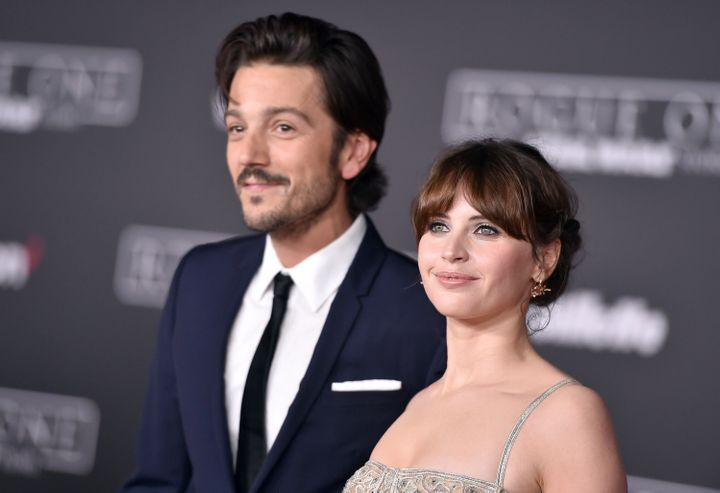 "Felicity Jones (pictured with co-star Diego Luna) eventually landed the lead role in ""Rogue One: A Star Wars Story"" but Tatiana Maslany was on the short-list of considered actors."