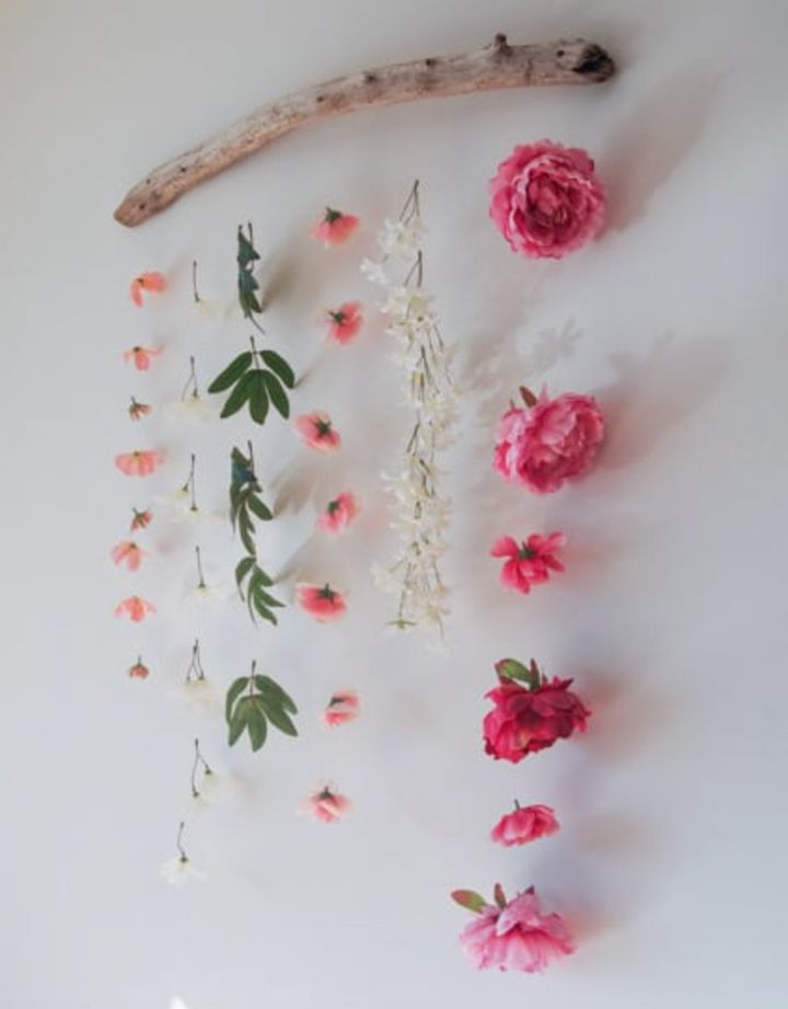 Natural driftwood can also be used for hanging wall art or anything from shells on strings to macrame planters.