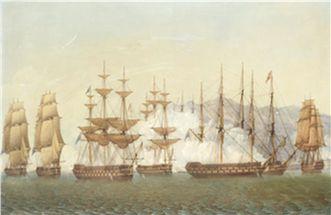 Thomas Whitcombe κύκλος, η ναυμαχία...