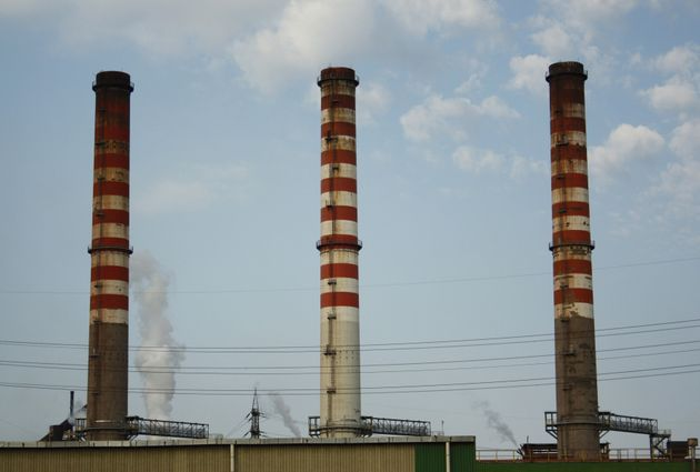In this picture taken Friday, Aug. 17, 2012, the ILVA steel plant is seen in Taranto, Italy. An Italian...