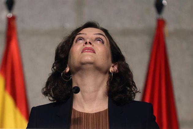 Isabel Díaz Ayuso, en un momento de la