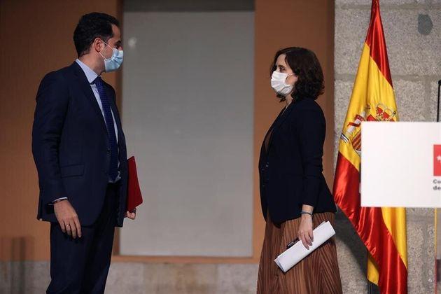Aguado y Díaz Ayuso, tras la