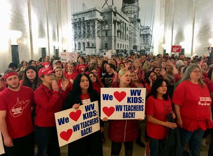 West Virginia teachers went on strike in 2019 to protest an education bill in the state legislature. A year earlier, a prior