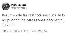"""El """"resumen de las restricciones"""" de Díaz Ayuso que arrasa en Twitter: más de 11.000 compartidos y"""