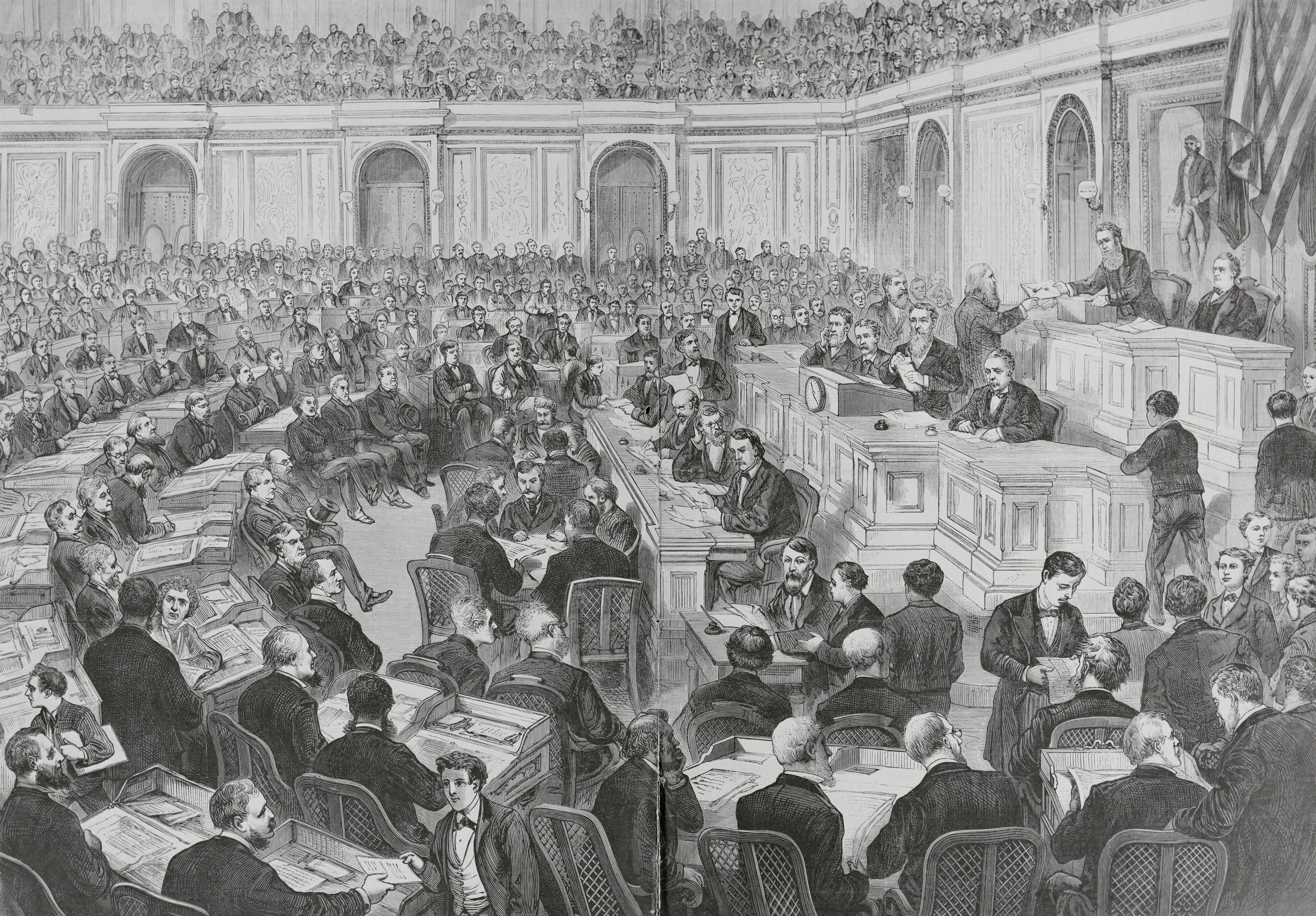 In the controversial presidential election, the outcomes in four states were in dispute, creating a stalemate that took weeks to resolve before a winner was declared.