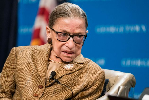 Supreme Court Justice Ruth Bader Ginsburg participates in a discussion at the Georgetown University Law...