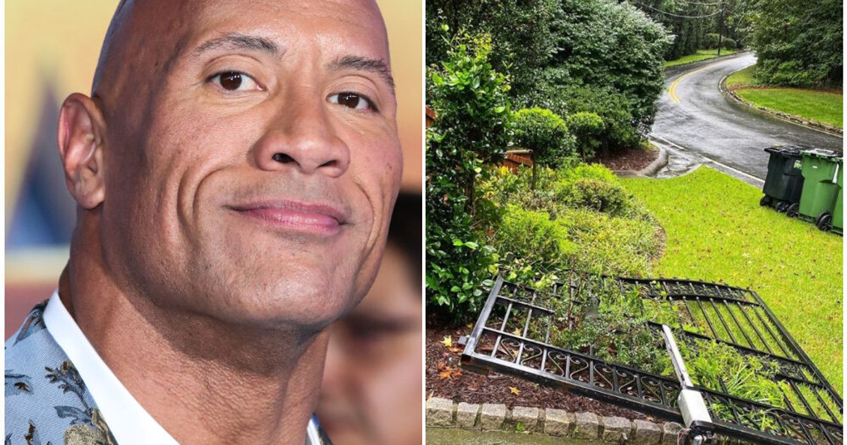 We're Equal Parts Impressed And Terrified After The Rock Rips Off Gates To His Home With His Bare Hands