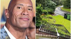 We're Equal Parts Impressed And Terrified After The Rock Rips Off Gates To His Home With His Bare