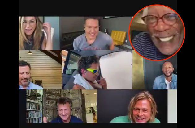 Hay un detalle del reencuentro de Brad Pitt y Jennifer Aniston que está dando mucho juego: se ve en la
