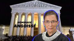 Après la mort de Ruth Bader Ginsburg, une foule se rassemble spontanément devant la Cour