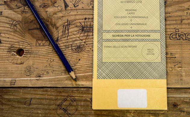 03/03/2018 Roma, Elezioni Politiche 2018 - Operazioni preliminari nei seggi elettorali. Nella foto la...