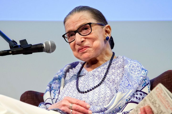 "Ruth Bader Ginsburg spoke after a screening of ""RBG"" in Jerusalem in 2018."
