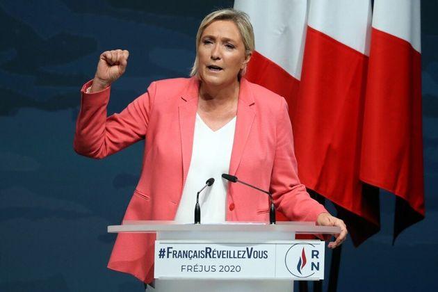 La présidente du Rassemblement national (RN), Marine Le Pen, le 6 septembre 2020 à