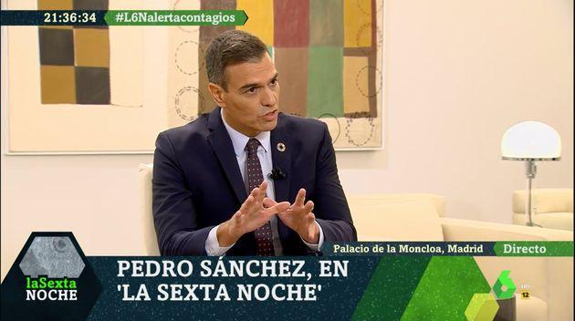 Pedro Sánchez, en un momento de la